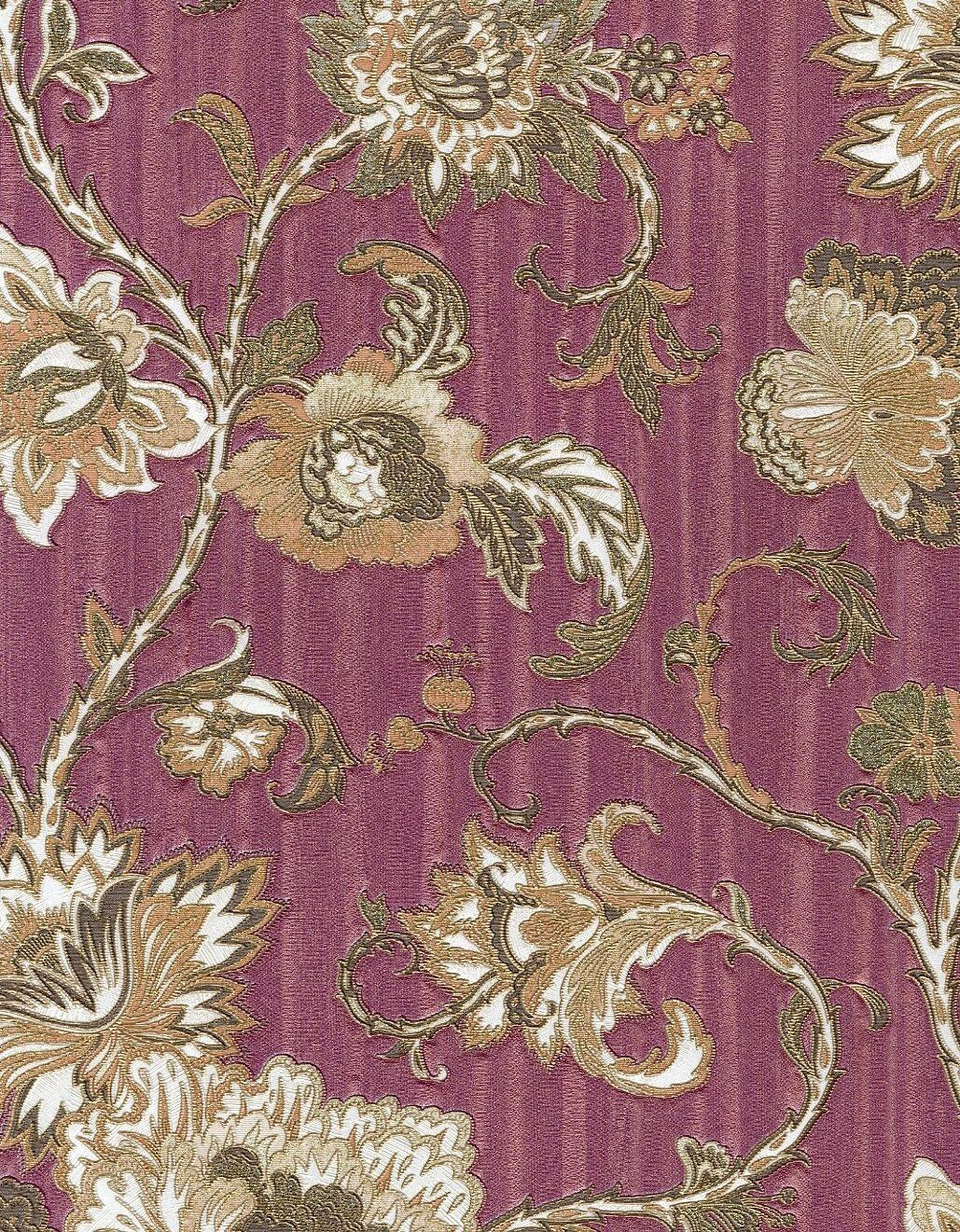 Zambaiti Citta Alta Floral With Gold Glitter Wallpaper 3258