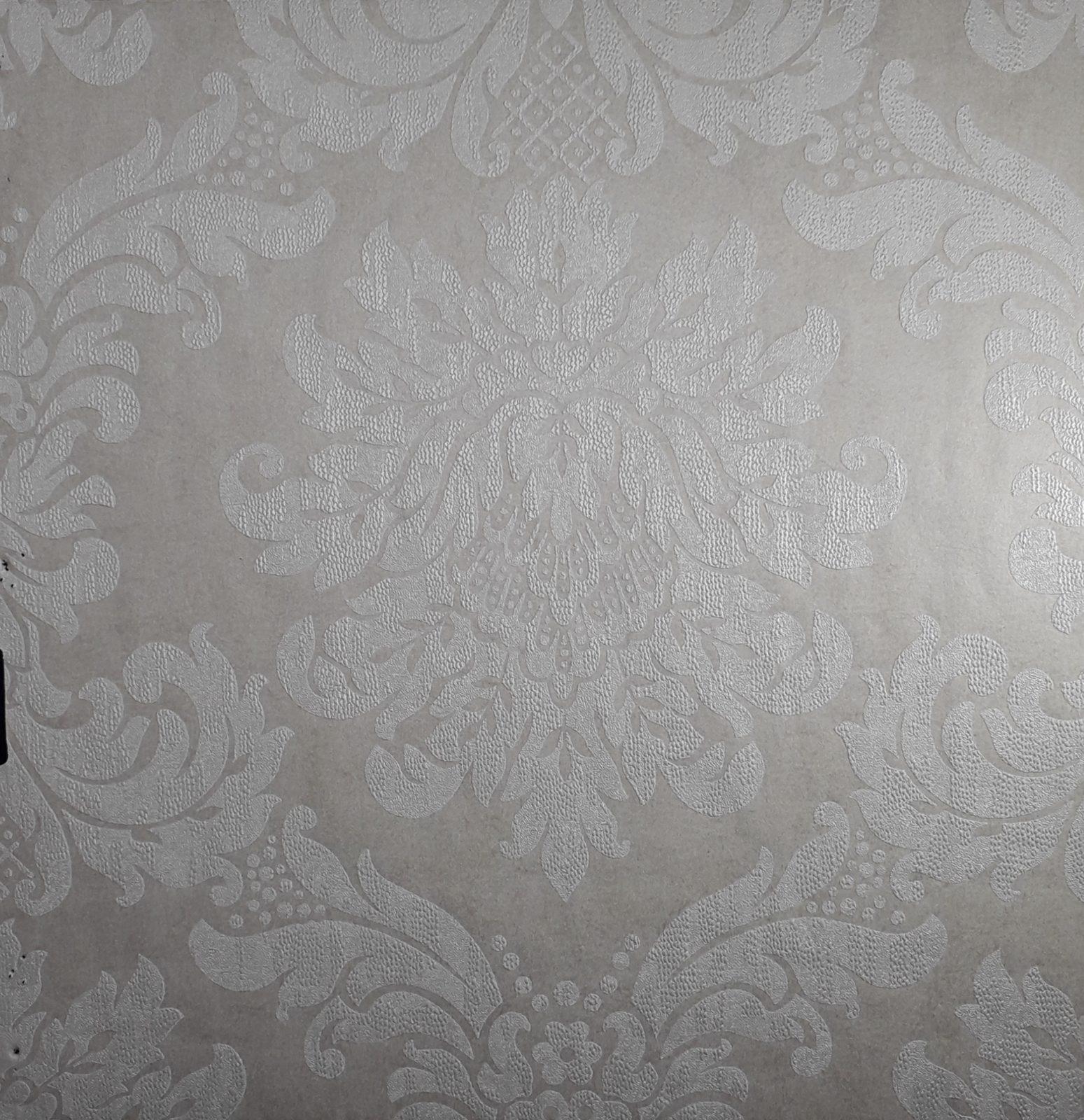 Uniwal Cream And Gold Damask Wallpaper Cat24471 Wallpaper World