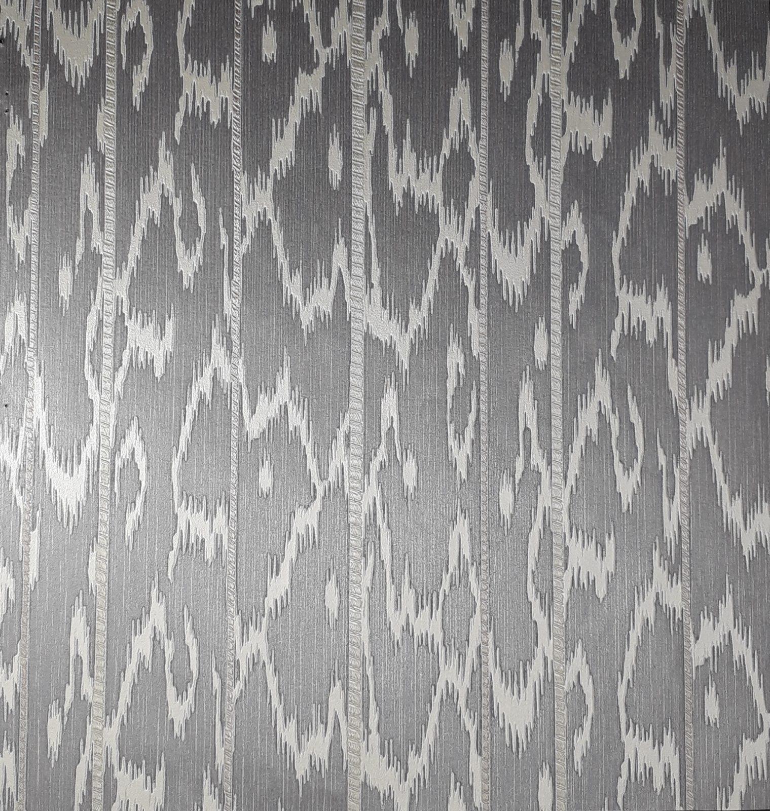 Uniwal Stripe Dark Grey And Cream Abstract Wallpaper