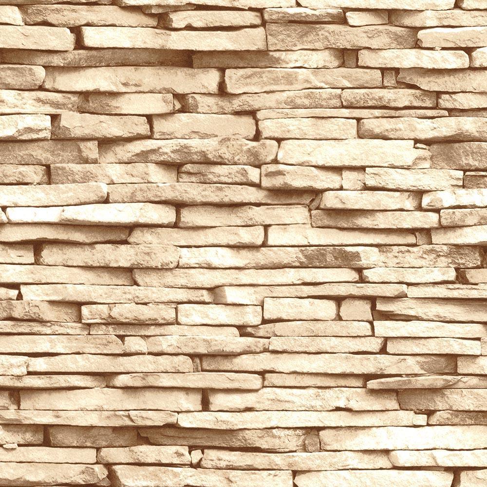 Decowall 3D Effect Brick Stone Wallpaper 4410-03 ...