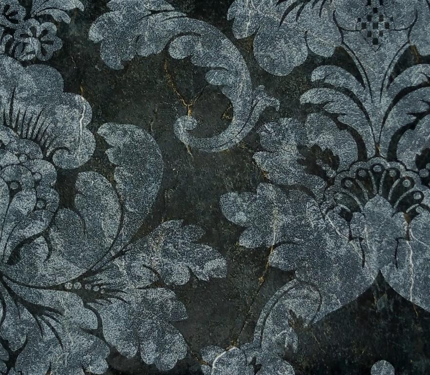 Sirpi Palladio Black And Silver Damask Wallpaper 18952 Wallpaper