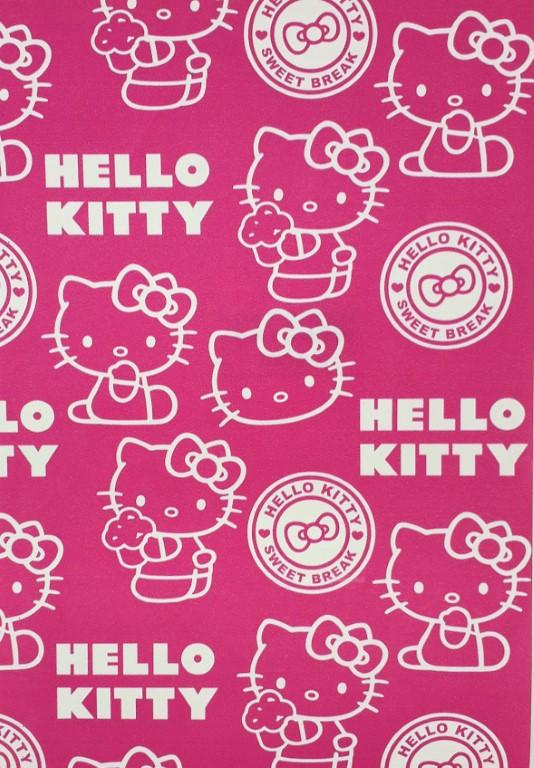 Ag Design Hello Kitty Pink Wallpaper Wpd9745a
