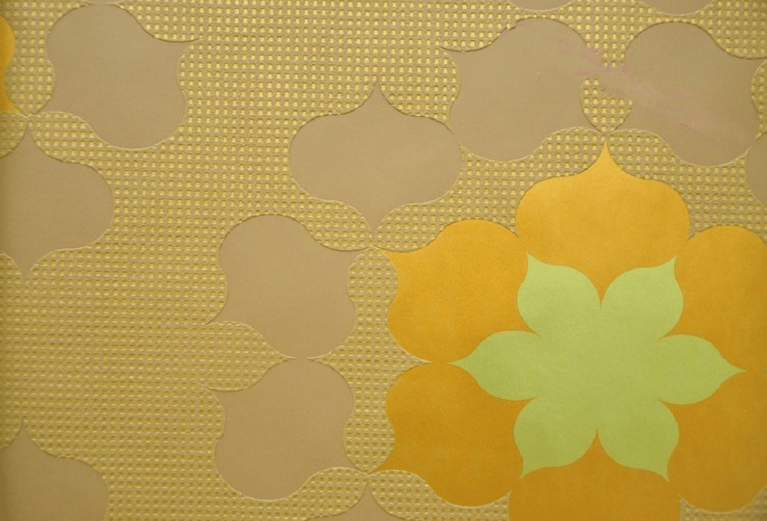 Marburg Wall Couture Gold Yellow And Brown Floral Wallpaper 52262